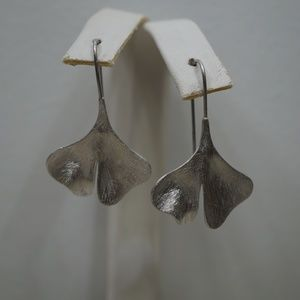 Sterling Silver (.925) Leaf French Wire Earrings